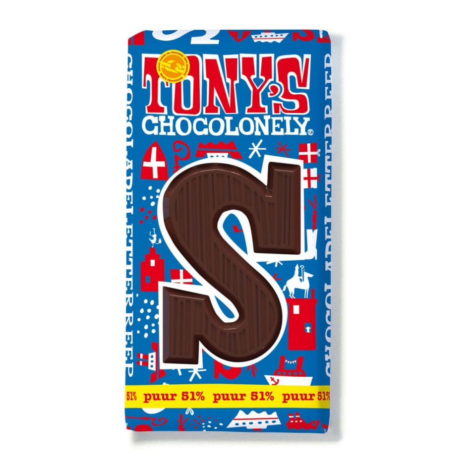 Tony's Chocolonely Letterreep Puur