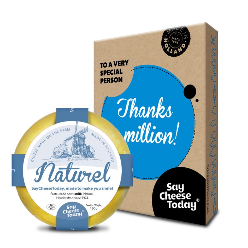 SayCheeseToday brievenbuscadeau Thanks a Million!